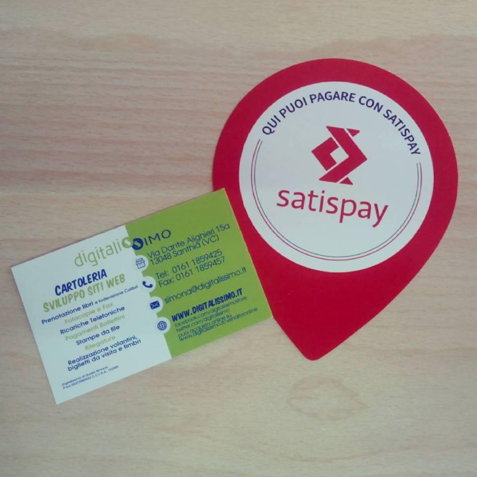Qui si paga con Satispay – Paga con l'app