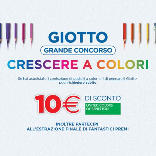 """Concorso Giotto """"Crescere a colori"""" 20 luglio 2018 – 15 Ottobre 2018"""