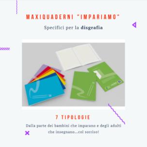 """Maxiquaderni Didattici """"Impariamo"""" ideali per Disgrafici"""